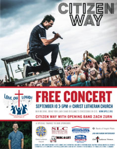 CITIZEN WAY CONCERT POSTER
